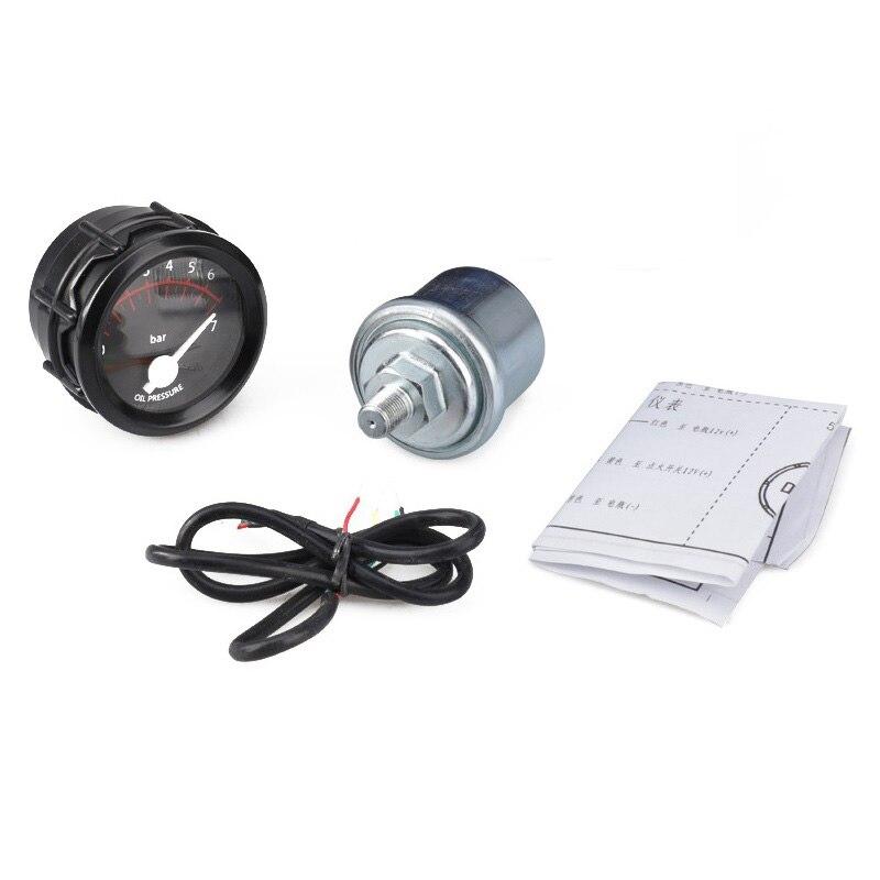 2 inch 12V Universal Auto Car Oil Pressure Gauge 0-7 Bar Oil Press Gauge Meter