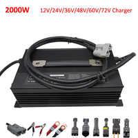 2000W 12V 24V 50A 36V 40A 48 V 30A 60V 25A 72V 20A batería de plomo-ácido de 48 voltios GEL UPS AGM carrito de Golf de la carretilla elevadora triciclo cargador