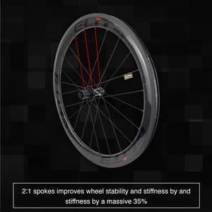 Image 4 - עלית 700c אופני כביש פחמן גלגלי 3k אריג UCI שפת פחמן באיכות ללא פנימית מוכן Sapim מאובטח מנעול פטמה כביש אופניים