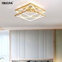 LED תקרת אורות זהב גוף עגול/מרובע עבור שינה תמיכה 110V ו 220V שלט רחוק led מנורות-בתאורת תקרה מתוך פנסים ותאורה באתר