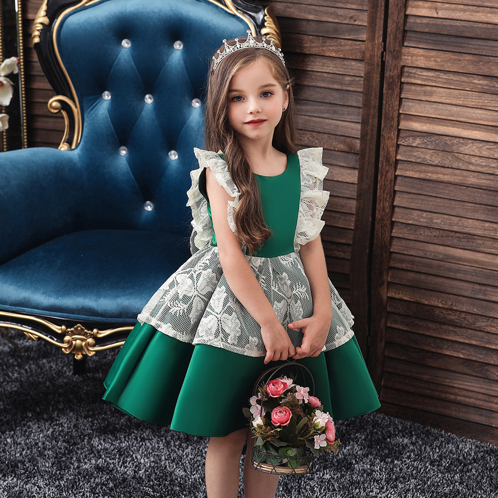 Toddler Kid Girls Lace Princess Halloween Gown Party Tulle Dress Cosplay Clothes halloween costume for girls winter dress cloth