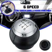 6 Speed Gear Shift Knob Lever Shifter Stick Handball PU Leather For Toyota Corolla Verso Auris Aygo Rav4 Avensis Yaris