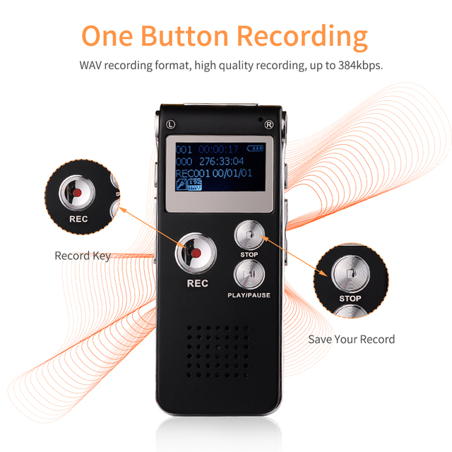 8GB Voice Activated Recorder for Telephone Recording 3