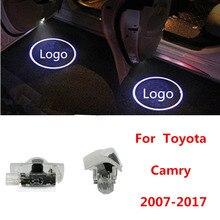 2x Led Auto Welkom Deur Licht Logo Projector Voor Toyota Camry 4 Runner Avalon Highlander Land Cruiser Prius Sequoia Venza tundra