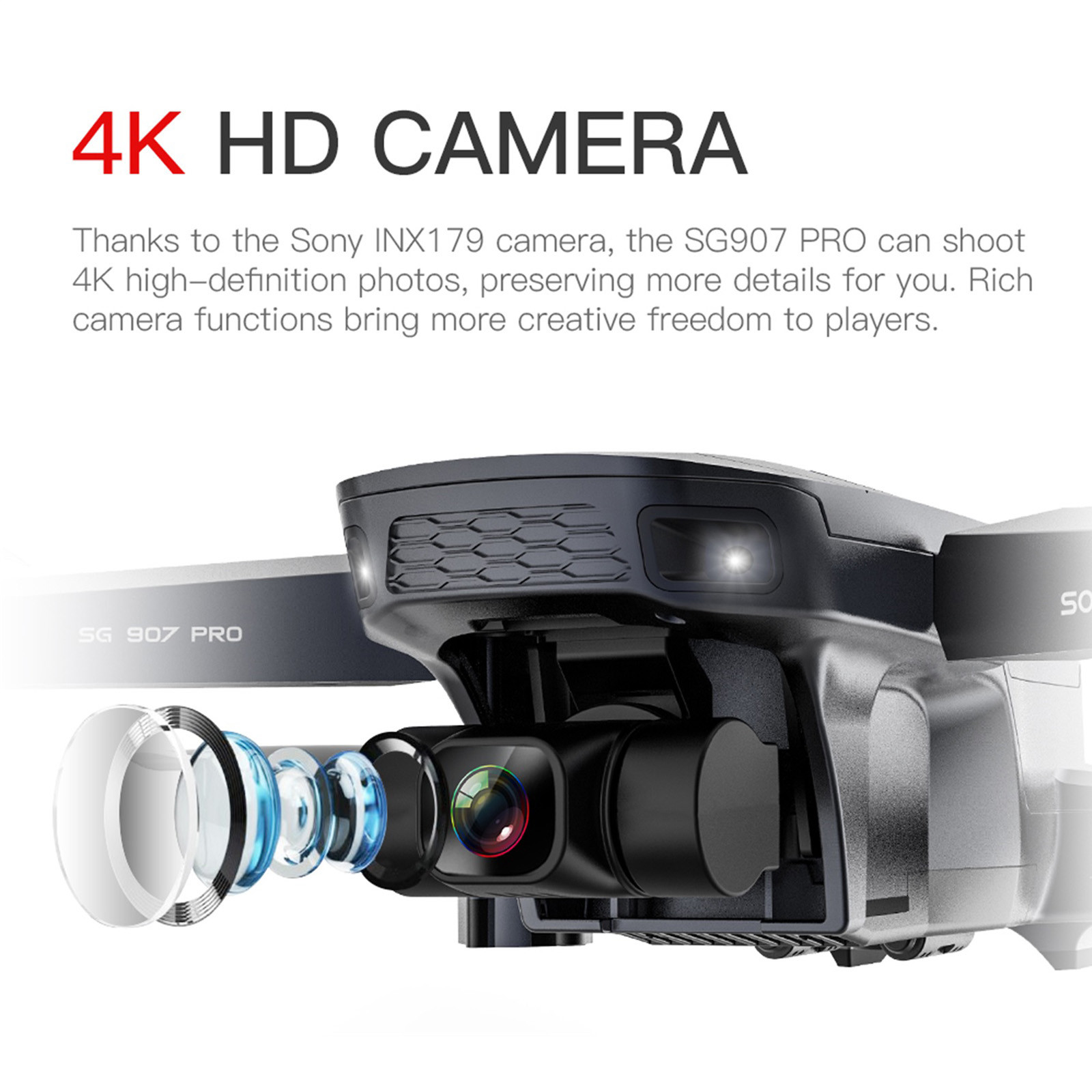 H4203ad55dc7348f68a4d25acade6b559R - 2020 New Sg907 Pro 5g Wifi Drone 2-axis Gimbal 4k Camera Wifi Gps Rc Drone Toy Rc Four-axis Professional Folding Camera Drones