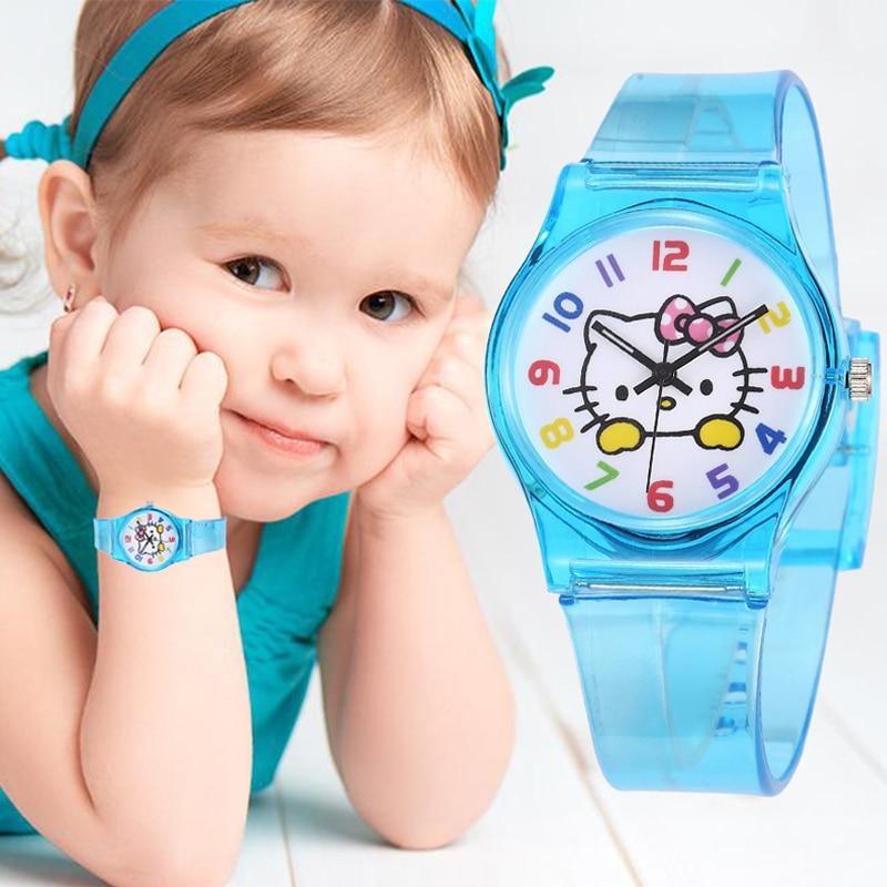 Kids Watch Girls Waterproof Casual Transparent Watch Jelly Children  Watch Boys Wrist Watches Quartz Clock Relogio Montre Enfant