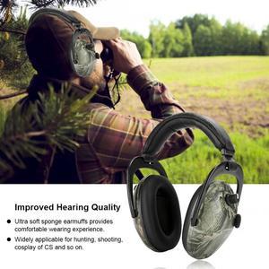 Image 5 - تكتيك إلكتروني اطلاق النار سدادات حماية الأذن للأذنين مكافحة الضوضاء واقي أذن NRR 28db حامي السمع سماعات عازلة للصوت الساخن