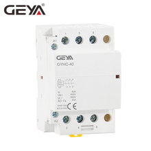 цена на GEYA GYHC 3 Phase AC Contactor 220V 3P 40A 63A 3NO Din Rail Household AC Contactor Modular Switch