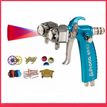 цена на Prona MRS2-2R dual head manual nano spray gun, double nozzle spray gun , free shipping, two head gun Chrome plating mirror spray
