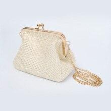 Fashion handwoven straw, small handbag, retro womens Mini Handbag, casual Shoulder Messenger Bag