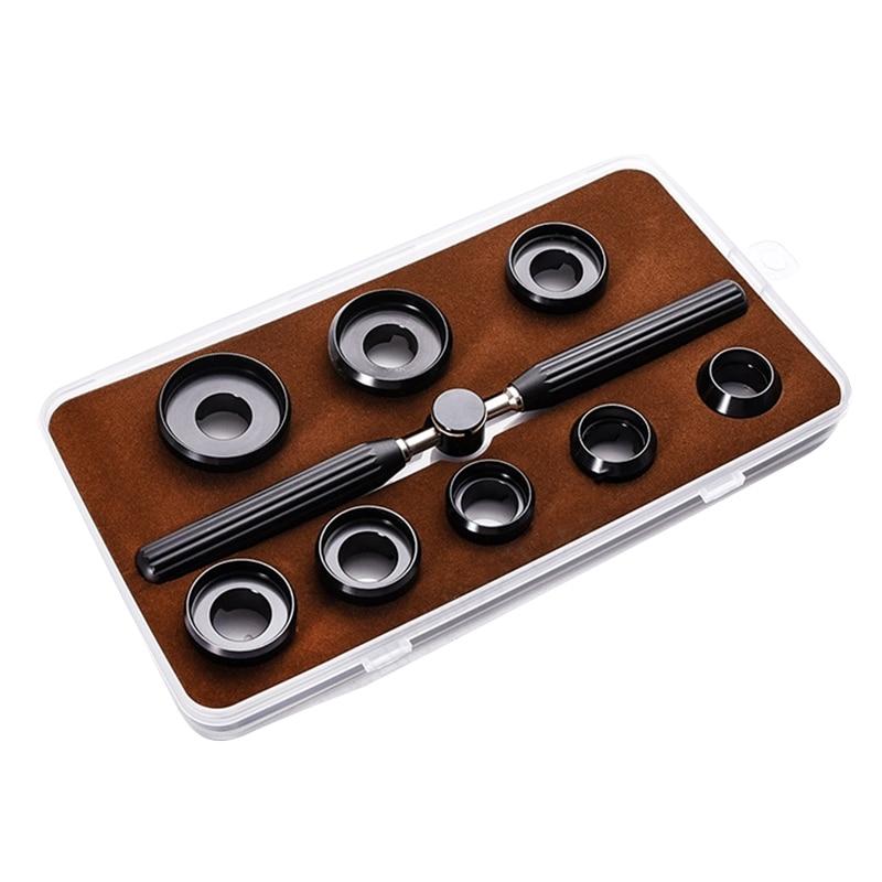 9 шт. инструментами для часов, мужские часы Наборы 5537 часы задняя крышка чехол Крышка для бутылок Набор для удаления ключ, дюймовый стандарт +...