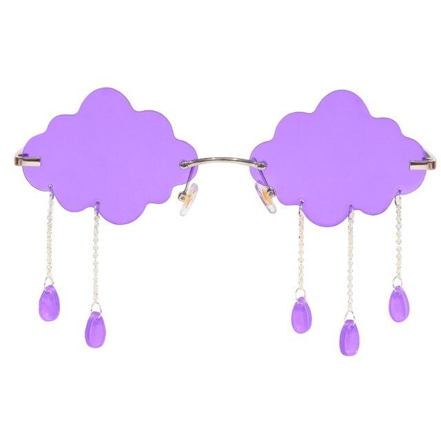 Rainy Cloud Sunglasses- Purple