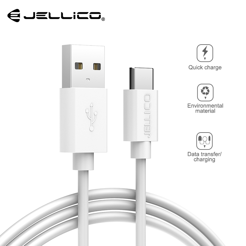 Jellico USB Type C Cable For Samsung S9 Xiaomi Redmi Note 7 mi9 USB C Cable Fast Charging Wire USB-C Mobile Phone Charge Cord image