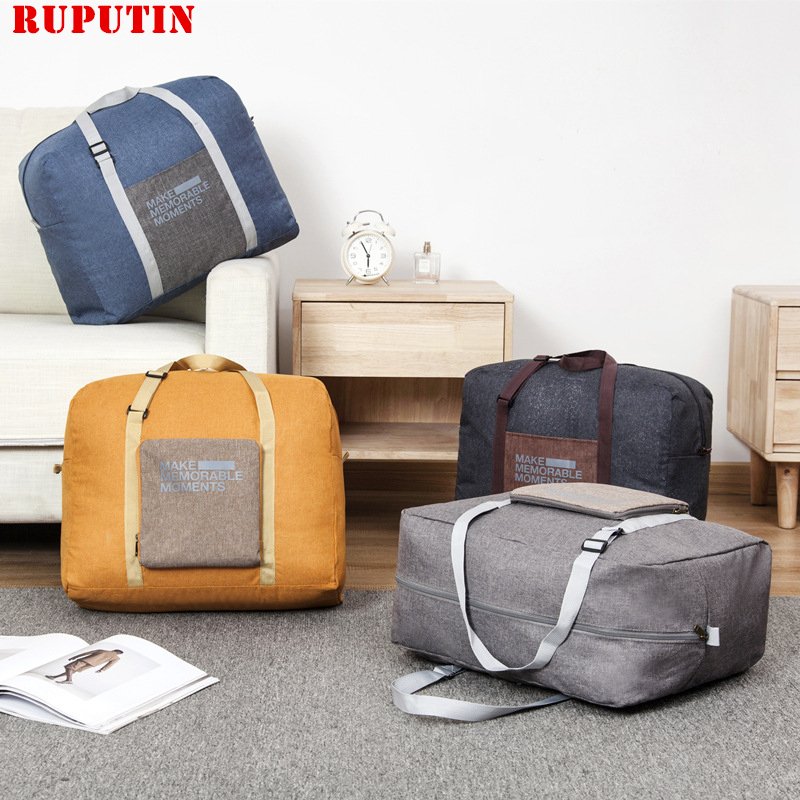 New Portable Luggage Travel Bag Foldable Clothes Finishing Storage Bag Men Women Boarding Bag Collapsible Handbag Trunk Package