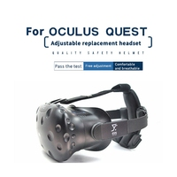 for HTC VIVE VR Glass Accessories Adjustable Replacement Headband Helmet+Plug in Headphones Set