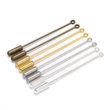 20 pièces 50/70mm longueur or argent Bronze couleur boucle oeil broche avec des épingles de sûreté bouchon pour bricolage fabrication de bijoux résultats