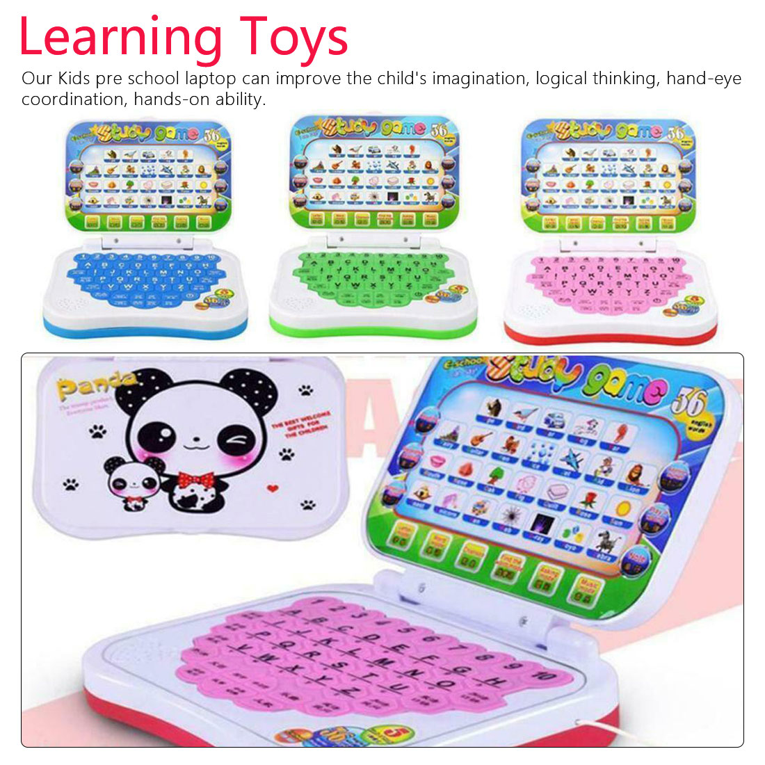 Computer-Toy Laptop-Game Learning Study Educational Baby Kids Pre-School Send In-Random