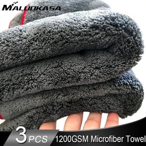 Image 1 - Car Cleaning Towel 1200GSM Car Detailing 40*40/60*90cm Microfiber Drying Towels Auto Polishing Tool Car Wash Cloth Accessories