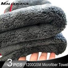 Ręcznik do czyszczenia samochodu 1200GSM detale samochodów 40*40/60*90cm ściereczka z mikrofibry ręczniki do osuszania Auto narzędzie do polerowania do mycia samochodu akcesoria odzieżowe