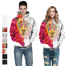 Autumn Winter Fashion Lion Digital Printing Men/Women Hooded Hoodies Cap Windbreaker Jacket 3d Sweatshirts