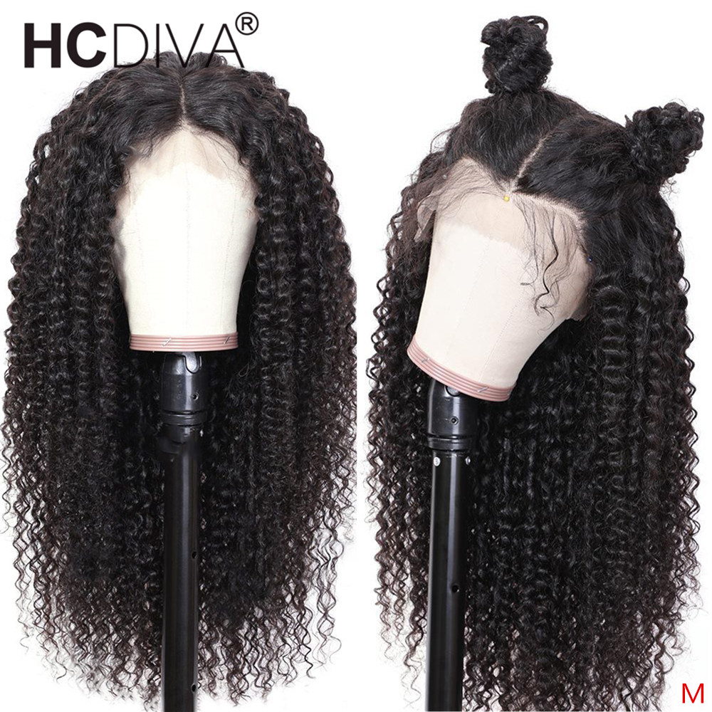 Mongolian Kinky Curly 360 Human Hair Wig 13*4/13*6 Lace Front Human Hair Wig 180% Lace Wig Pre Plucked With Baby Hair For Women
