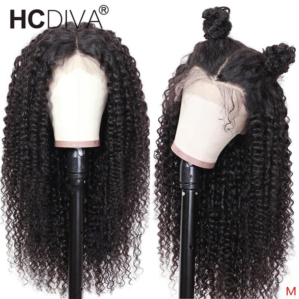 Mongolian Kinky Curly 360 Human Hair Wig 13*4/13*6 Lace Front Human Hair Wig 180% Lace Wig Pre Plucked With Baby Hair For Women