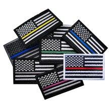 Соединенные Штаты Америки, с рисунком в виде американского флага патч правая рука обратный армейская тактическая повязка на руку эмблема в...