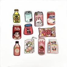 New Food Drink Candy Milk Embroidery Badge Jacket Shoe Bag Hat Patch Patch Iron on Patches DIY Decorative Stickers for Clothing(China)