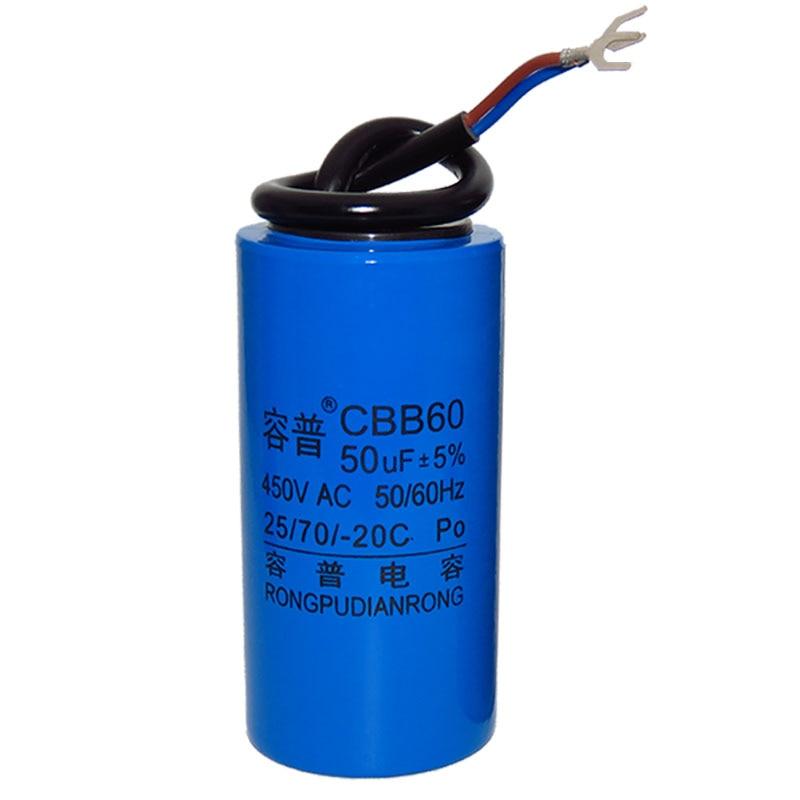 CBB60 Crane Electromechanical Hoist Capacitor Motor 3/4/5/6/8/10/12/14/1618UF/20/30/35/40/45/50UF/55/60/70/80/100 450V