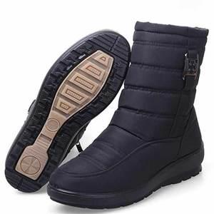 Image 2 - حجم كبير الشتاء النساء أحذية الثلوج أحذية 2020 المضادة للانزلاق مقاوم للماء مرنة النساء الأحذية أفخم الدافئة حذاء من الجلد سستة بوتاس