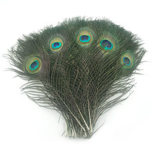 Высококачественные перышки павлина 10 шт/лот длина 25 32 см