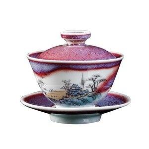 Керамическая гайвань 140 мл, винтажная чайная чаша ручной работы, чайная чашка, Декор, чайная посуда, контейнер для чая, миски для чая