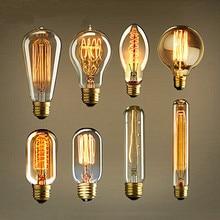 Ретро Edison led светильник лампочка E27 220V 40W лампа накаливания ампулы лампы Винтаж Edison лампа ретро украшения светильник s