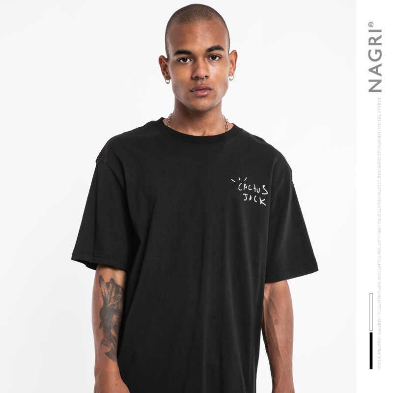 Nagriファッショントラビススコットツアー半袖サボテンネットカニエウェストメンズと女性のルーズ半袖tシャツ