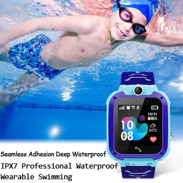 Q12 Children's Smart Watch SOS Phone Watch Smartwatch For Kids With Sim Card Photo Waterproof IP67 Kids Gift For IOS Android 6
