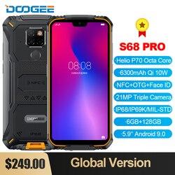 DOOGEE S68 Pro смартфон с восьмиядерным процессором Helio P70, ОЗУ 6 ГБ, ПЗУ 128 ГБ, 21 МП, 6300 мАч