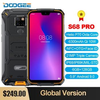 Перейти на Алиэкспресс и купить DOOGEE S68 Pro смартфон с восьмиядерным процессором Helio P70, ОЗУ 6 ГБ, ПЗУ 128 ГБ, 21 МП, 6300 мАч