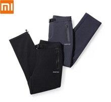 Youpin Autumn winter men hard shell composite fleece pants Waterproof Windproof Warm Sports Trousers Hiking Cargo Pants