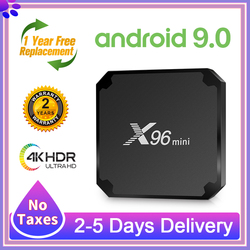 ТВ-приставка X96 Mini Android 9,0 2020 Amlogic S905W четырехъядерная X96 Mini Full HD 2,4G WIFI H.265 медиаплеер 4k Smart TV Box X96 Mini