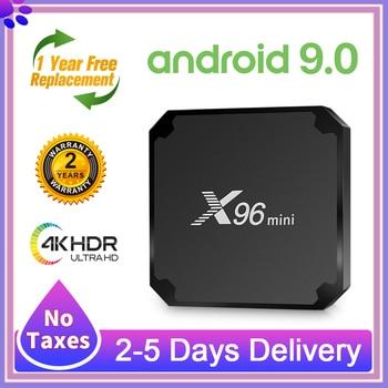 tx5 pro amlogic s905x android 6 0 tv box 2g 16g kodi 16 1 2 4 5 8g wifi bt4 0 h 265 4k smart iptv europe media player pk x96 tx3 X96 mini TV Smart Box Android 9.0 Amlogic S905W Quad-Core H.265 100M 1/8G 2/16G X96Mini Box 4K TV Without subscription X96 mini