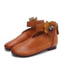 """""""Женская новая кожаная обувь для отдыха в стиле «Мэри Джейн»"""