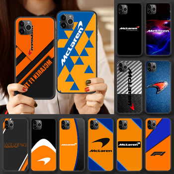 Mclaren Honda Logo Phone case For iphone 4 4s 5 5S SE 5C 6 6S 7 8 plus X XS XR 11 12 mini Pro Max 2020 black bumper luxury coque image
