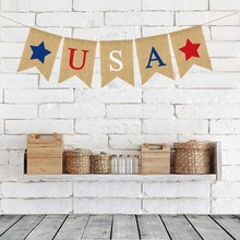 USA Independence Day US National Day Banner festival Garland For Home Decoration Accessories Banner Party Decoration цена 2017