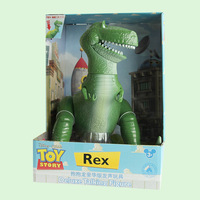New Anime Toy Story 4 3 Talking Rex Buzz Lightyear walk Figure Dolls Toy Story 4 Deluxe Rex Dinosaur Collect Christmas boys Gift