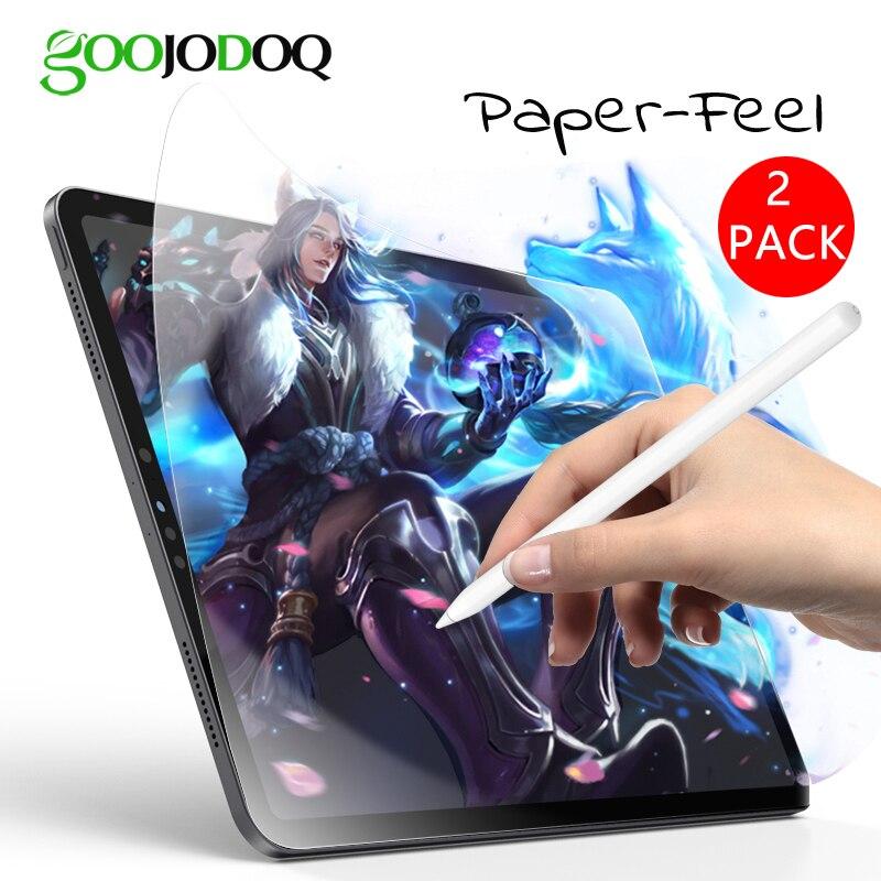 GOOJODOQ Paper Like Screen Protector For IPad 2018 Pro 11 Pro 10.5 Air 3 2 1 IPad 10.2 2019 IPad Mini 5 4 3 2 1 Matte PET Film