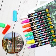 8Pcs/Set Erasable Highlighter Pen Stationery 8 Colors Fluorescent Marker Pen Drawing Painting Highlighter Art Marker Pens недорого