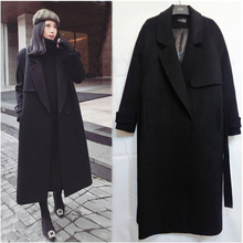 LANMREM 2019 New Autumn And Winter Fashion Solid Color Long-sleeved Wool Thicken