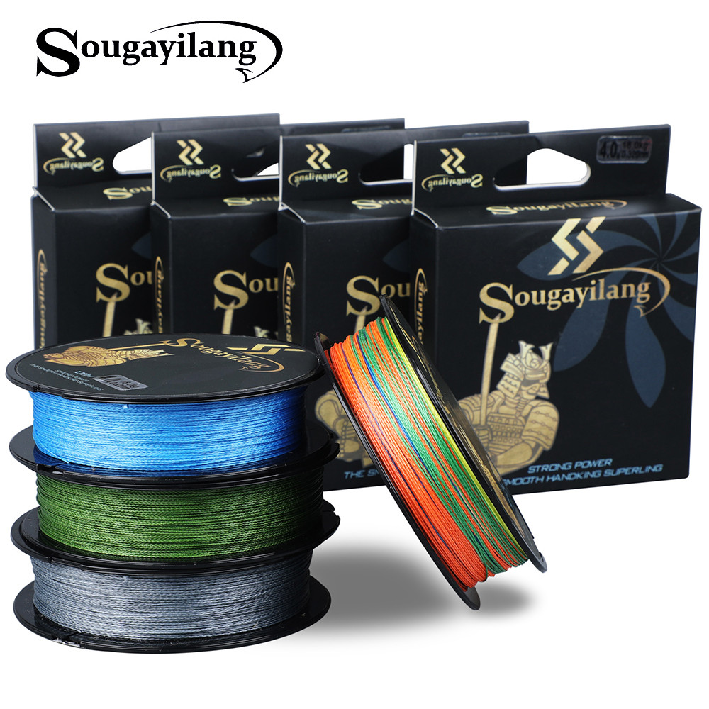 Sougayilang High Quality 4 Colors 100M PE Braided Fishing Line 4 Strands  Fishing Line Smooth Braided  Monofilament Fishing Line