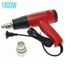 1800W Hot Air Gun Temperature-controlled Hot Air Hair Dryer Air Gun Heat Gun For Soldering Building Construction Industrial Tool