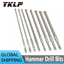350mm Electric Hammer Drill Bits 10/12/14/16/18mm Cross Type Tungsten Steel Alloy SDS Plus for Masonry Concrete Rock Stone 1Pc